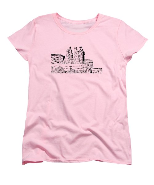 Three Gossips Drawing Women's T-Shirt (Standard Cut) by John M Bailey