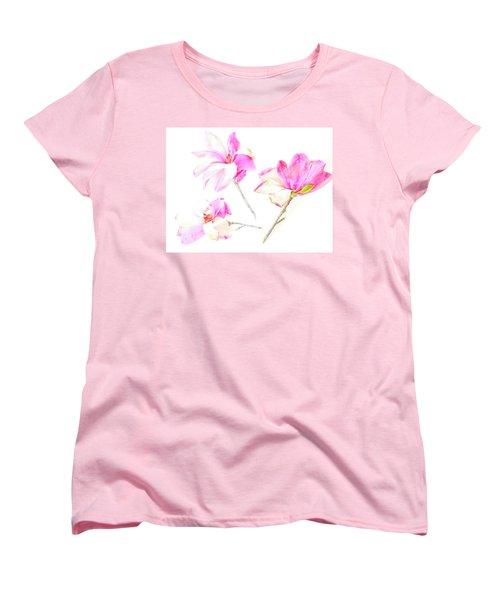 Three Magnolia Flowers Women's T-Shirt (Standard Cut)