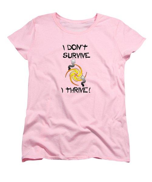 Thrive Women's T-Shirt (Standard Cut) by Judi Saunders