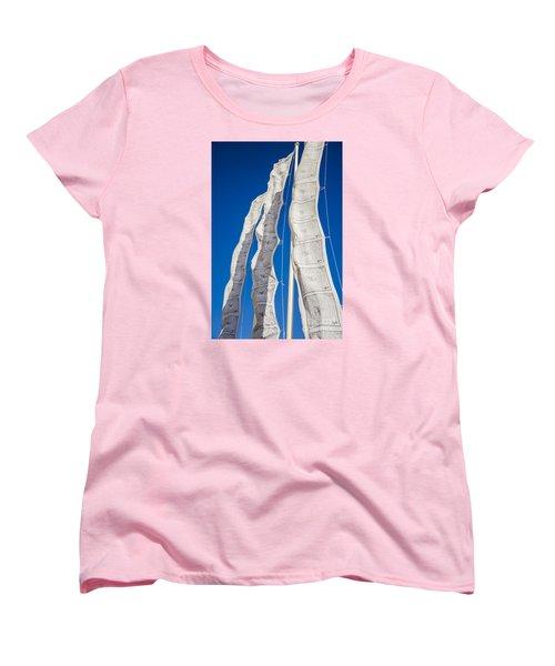 Tibetan Prayer Flags Women's T-Shirt (Standard Cut) by Perry Van Munster