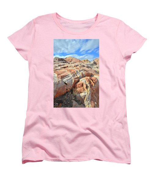 Tiger Stripes In Valley Of Fire Women's T-Shirt (Standard Cut) by Ray Mathis