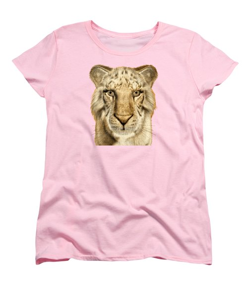 Women's T-Shirt (Standard Cut) featuring the painting Tigers by Methune Hively