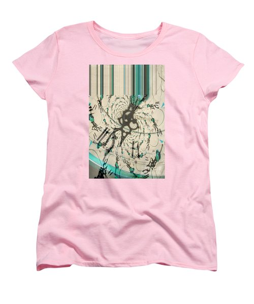 Time Ticking To The New Year Women's T-Shirt (Standard Cut) by Donna Bentley