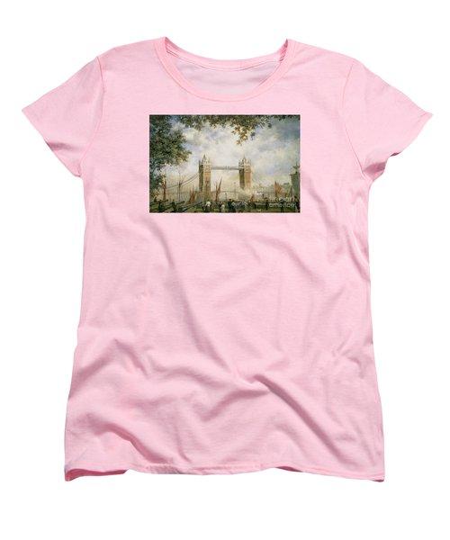 Tower Bridge - From The Tower Of London Women's T-Shirt (Standard Cut) by Richard Willis