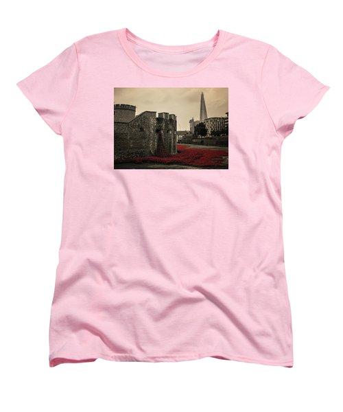 Tower Of London Women's T-Shirt (Standard Cut) by Martin Newman
