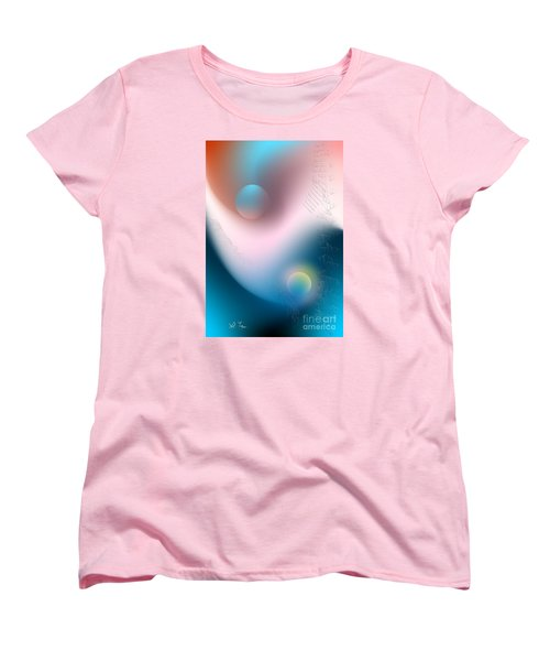 Women's T-Shirt (Standard Cut) featuring the digital art Tracks by Leo Symon