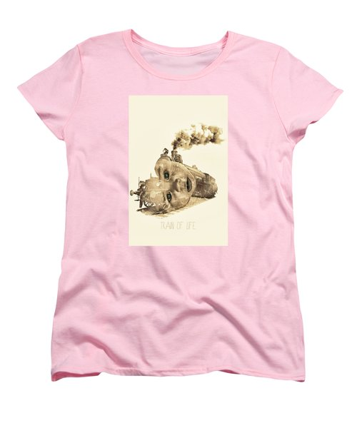 Train Of Life Women's T-Shirt (Standard Cut) by Mauro Mondin