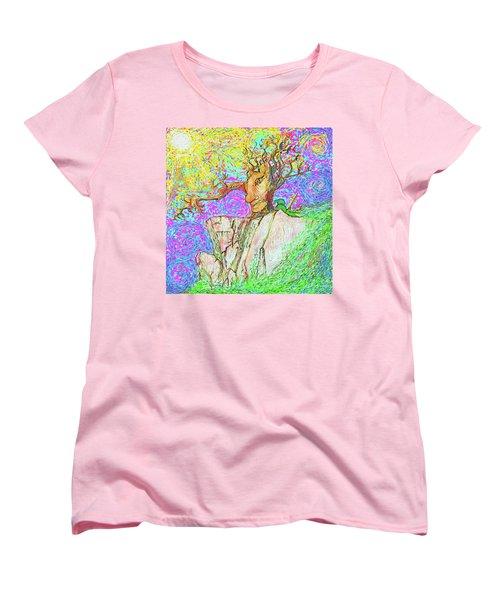Tree Touches Sky Women's T-Shirt (Standard Cut) by Hidden Mountain and Tao Arrow
