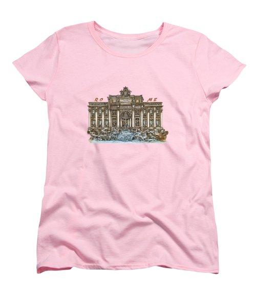 Trevi Fountain,rome  Women's T-Shirt (Standard Cut) by Andrzej Szczerski