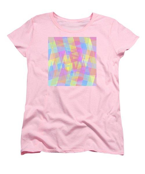 Triangle Jumble 2 Women's T-Shirt (Standard Cut) by Shawna Rowe