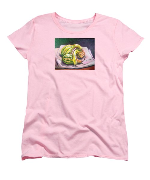 Women's T-Shirt (Standard Cut) featuring the painting Gourd Grouping by Laura Aceto