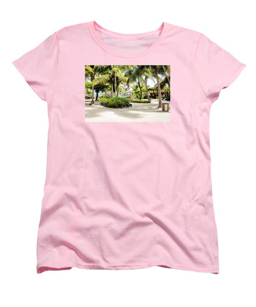 Tropical Courtyard Women's T-Shirt (Standard Cut)