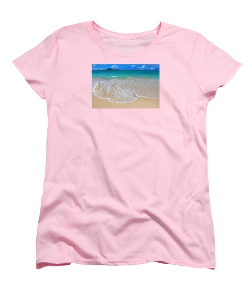 Women's T-Shirt (Standard Cut) featuring the photograph Tropical Hawaiian Shore by Kerri Ligatich
