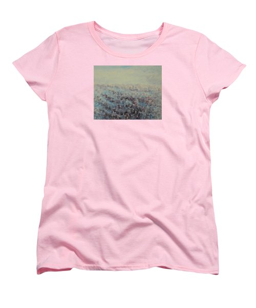 Tulips Dance Abstract 3 Women's T-Shirt (Standard Cut) by Jane See