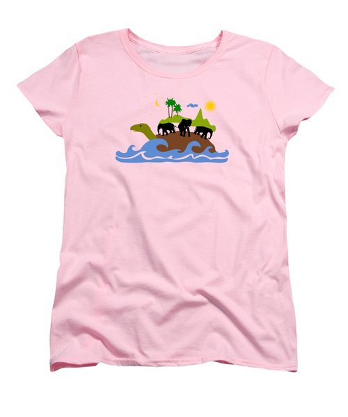Turtles All The Way Down Women's T-Shirt (Standard Cut) by Anastasiya Malakhova