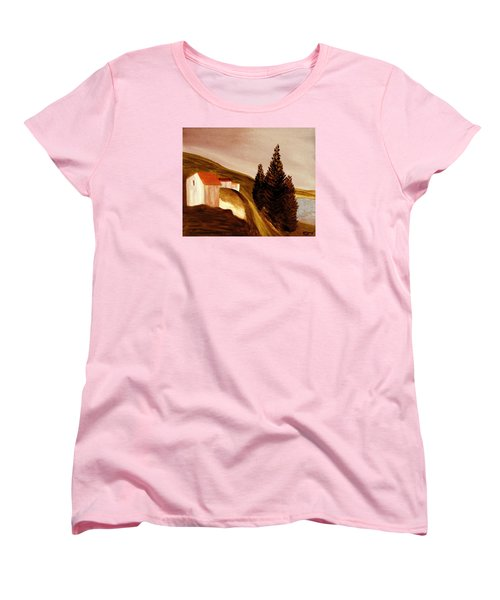 Women's T-Shirt (Standard Cut) featuring the painting Twilight by Bill OConnor