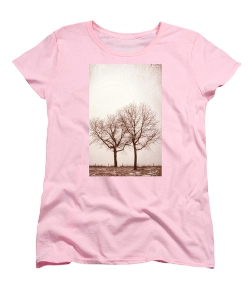 Two Trees#1 Women's T-Shirt (Standard Cut) by Susan Crossman Buscho