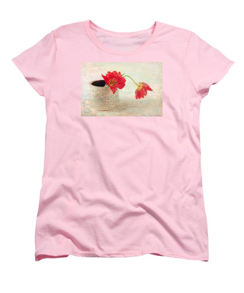 Two  Tulips   Women's T-Shirt (Standard Cut) by Catherine Lau