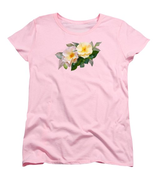 Two Wild Roses Women's T-Shirt (Standard Cut) by Ivana Westin