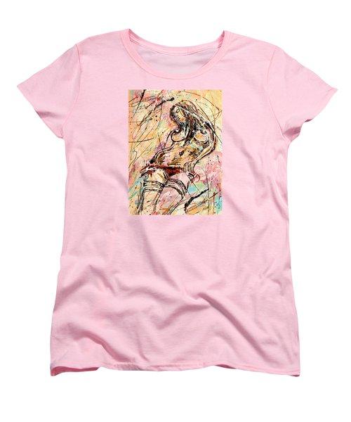 Undressing Woman  Women's T-Shirt (Standard Cut) by Erika Pochybova