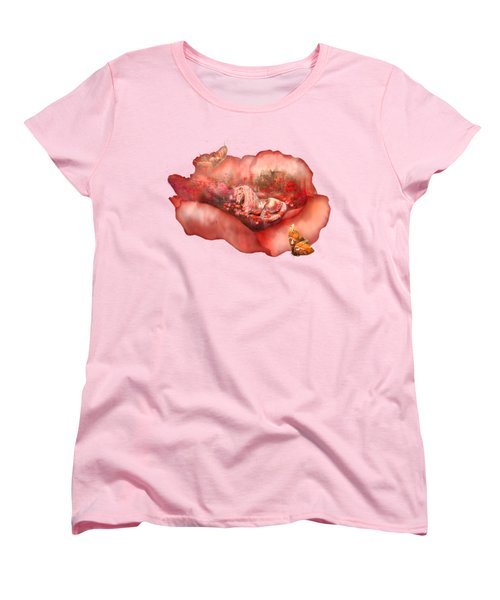 Unicorn Of The Poppies Women's T-Shirt (Standard Cut) by Carol Cavalaris