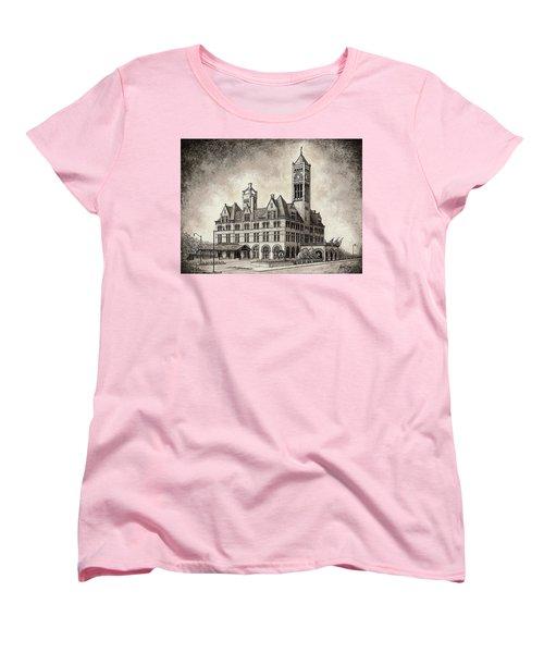 Union Station Mixed Media Women's T-Shirt (Standard Cut)
