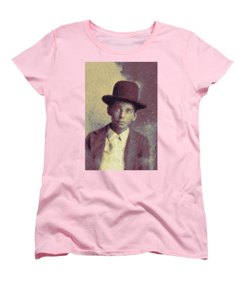 Unknown Boy In A Bowler Hat Women's T-Shirt (Standard Cut) by Matt Lindley