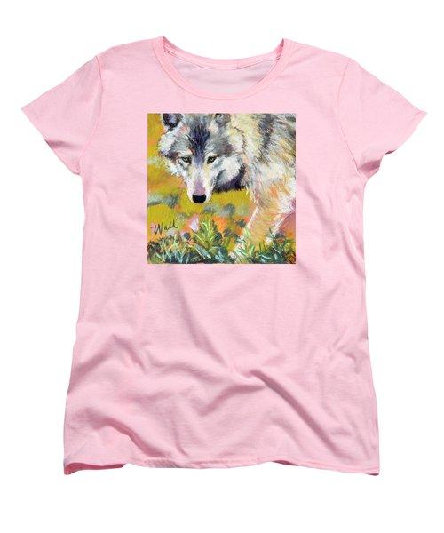 Women's T-Shirt (Standard Cut) featuring the pastel Vagabond by Pattie Wall