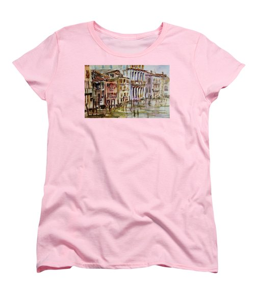 Women's T-Shirt (Standard Cut) featuring the painting Venice Impression II by Xueling Zou