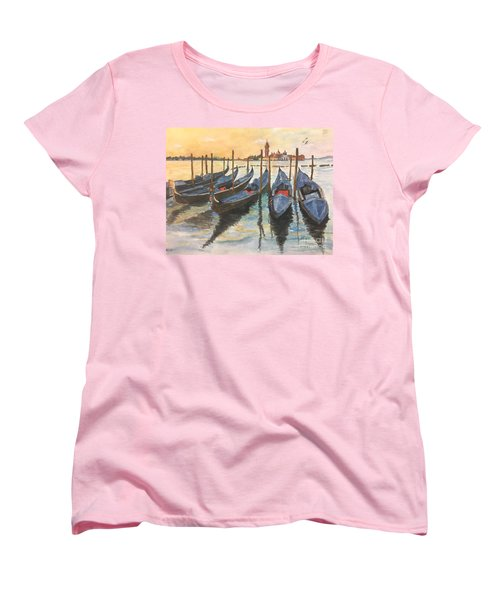 Women's T-Shirt (Standard Cut) featuring the painting Venice by Lucia Grilletto