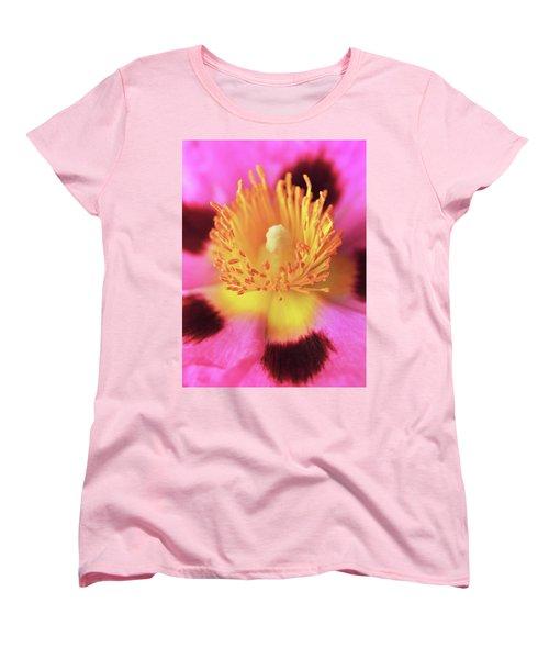 Vibrant Cistus Heart. Women's T-Shirt (Standard Cut) by Terence Davis