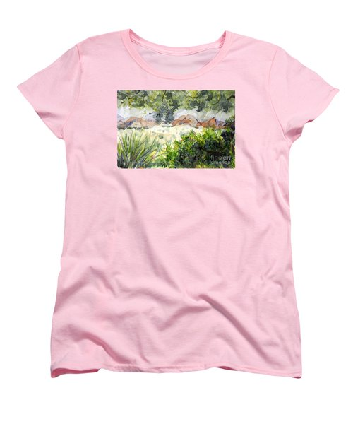 View At Red Rock Women's T-Shirt (Standard Cut) by Vicki  Housel