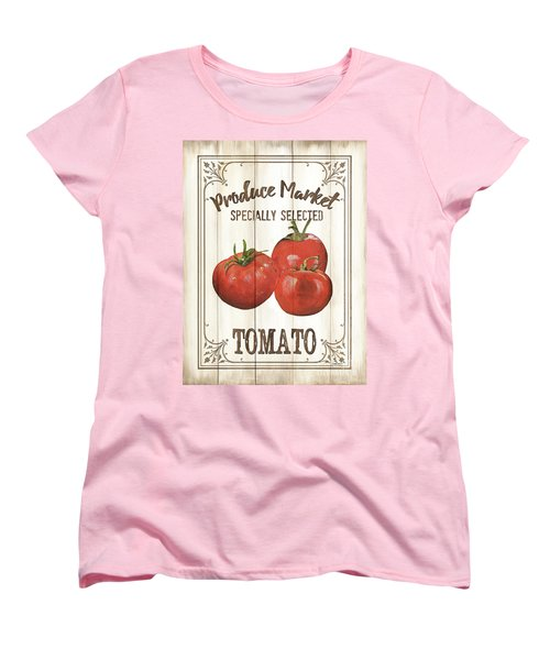 Women's T-Shirt (Standard Cut) featuring the painting Vintage Fresh Vegetables 4 by Debbie DeWitt
