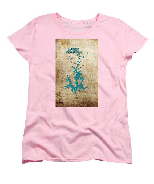 Vintage Map - Lake Martin Al Women's T-Shirt (Standard Cut)