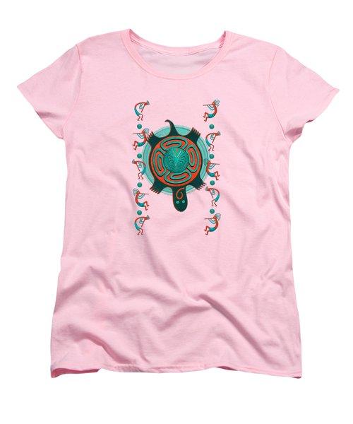 Visitors Anasazi 3d Folk Art Women's T-Shirt (Standard Cut) by Sharon and Renee Lozen