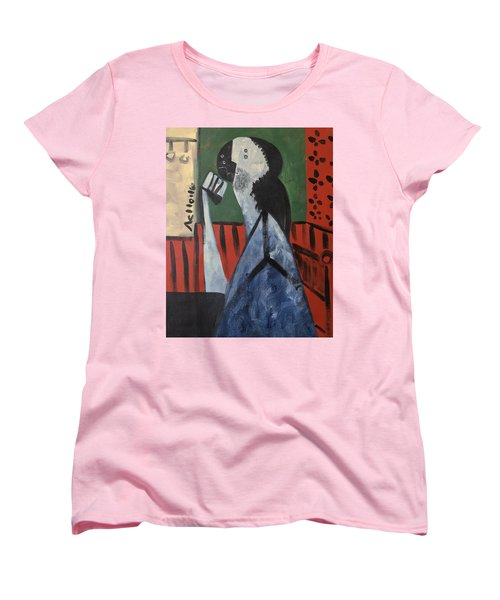 Vitae Thinking Man At The Tea House  Women's T-Shirt (Standard Cut)
