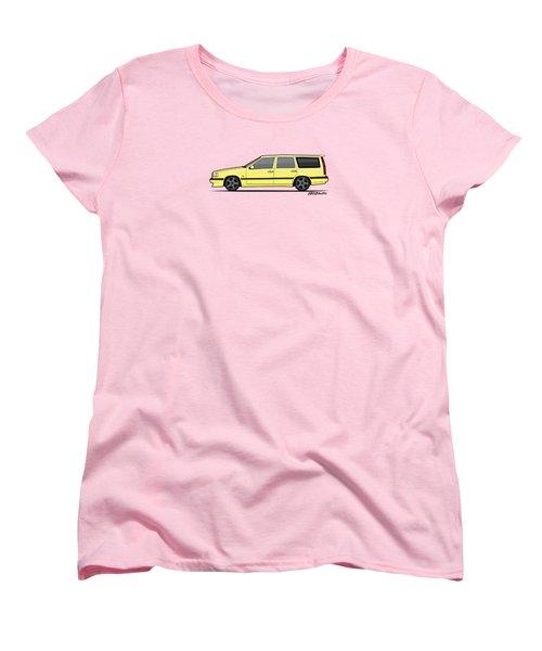 Volvo 850r 855r T5-r Swedish Turbo Wagon Cream Yellow Women's T-Shirt (Standard Cut) by Monkey Crisis On Mars
