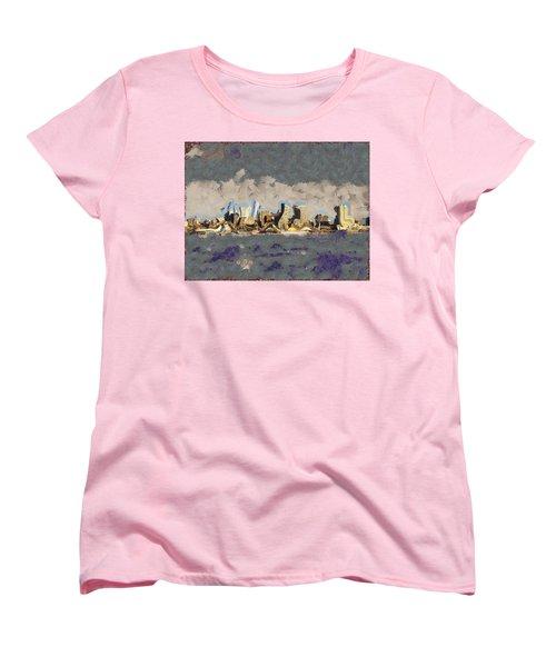 Wacky Philly Skyline Women's T-Shirt (Standard Cut) by Trish Tritz