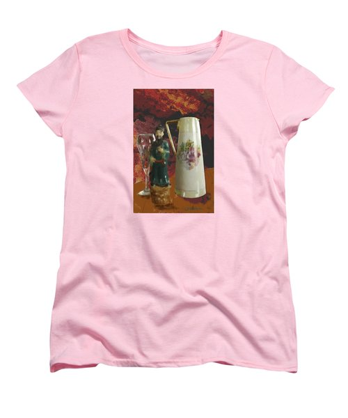 Women's T-Shirt (Standard Cut) featuring the digital art Waiting by Dale Stillman