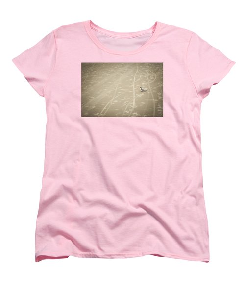 Women's T-Shirt (Standard Cut) featuring the photograph Waiting My Turn by Carolyn Marshall