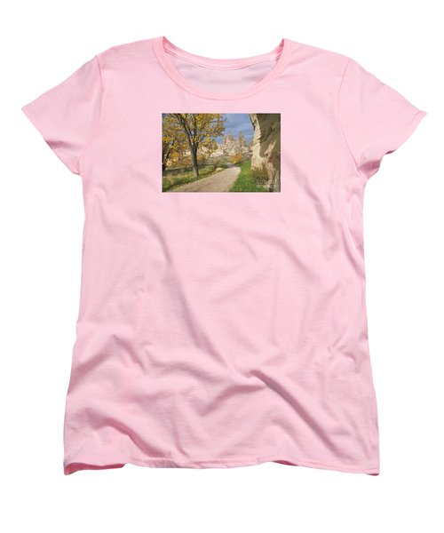 Women's T-Shirt (Standard Cut) featuring the photograph Walking The Cappadocia by Yuri Santin