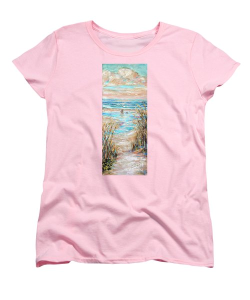 Walking The Dog IIi Women's T-Shirt (Standard Cut)