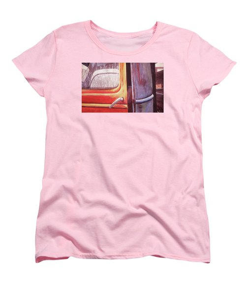 Women's T-Shirt (Standard Cut) featuring the painting Walter by Laurie Stewart