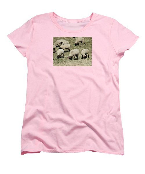 Women's T-Shirt (Standard Cut) featuring the photograph Wandering Wool by J L Zarek