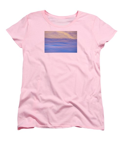 Waves Of Color Women's T-Shirt (Standard Cut) by Wanda Krack