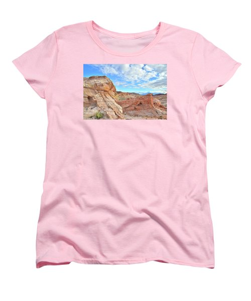 Waves Of Sandstone In Valley Of Fire Women's T-Shirt (Standard Cut) by Ray Mathis