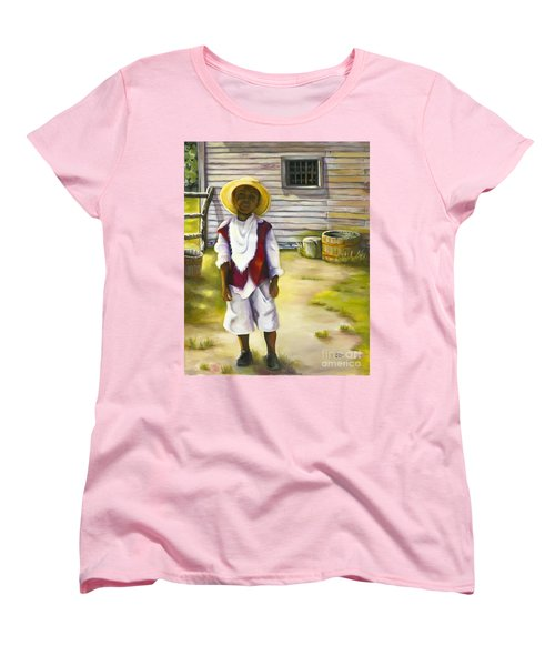 Women's T-Shirt (Standard Cut) featuring the painting Way Out Of No Way by Marlene Book