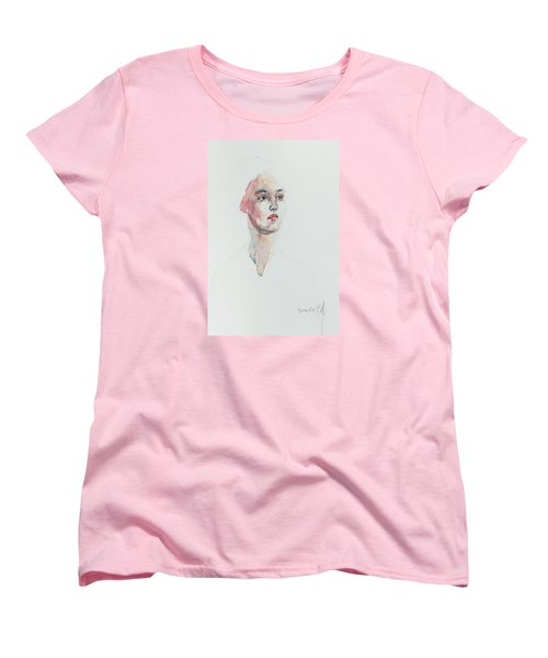 Women's T-Shirt (Standard Cut) featuring the painting Wc Mini Portrait 6             by Becky Kim