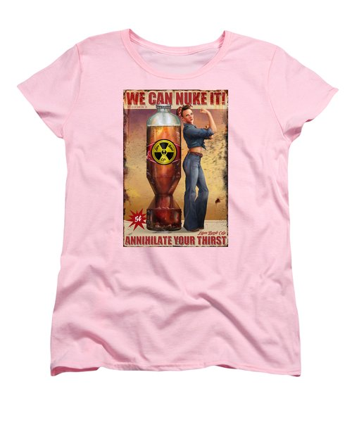 Women's T-Shirt (Standard Cut) featuring the digital art We Can Nuke It by Steve Goad