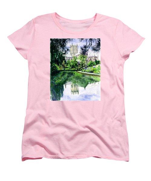 Wells Cathedral Women's T-Shirt (Standard Cut) by John D Benson